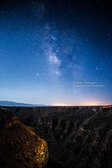 Rio Grande Gorge and Milky Way in Moonlight (Astrophotography and Landscapes from Taos, NM) Tags: newmexico stars landscape nightscape astrophotography taos riogrande milkyway riograndegorgebridge canon6d