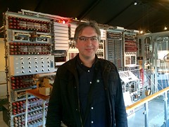 Standing before Colussus.    This picture was taken with a miniturised descendent of that machine.