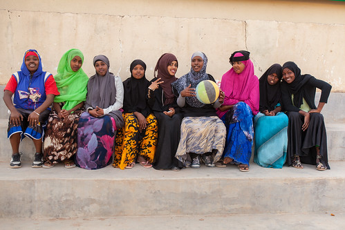 The female basketball team of Somaliland
