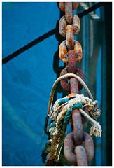 Chains & Ropes (aurelieclavieraurelie) Tags: sea mer boat chains marseille marine ropes bateau chaines corde