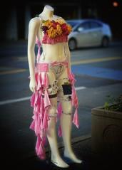 What? (Berkehaus) Tags: street pink art mannequin fashion headless glowing