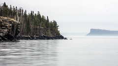 Layers of Cliffs (Portraits of Nature) Tags: mist lake reflection landscape rocks cliffs spruce thunderbay silverharbour