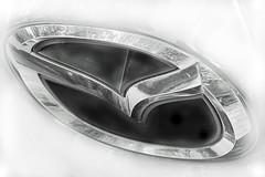 Car logo (Ed Whiting) Tags: mazda carbadge carsign sigma105mm mazdalogo canon6d mazdabadge