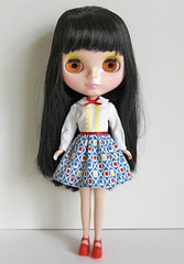 retro schoolgirl dress