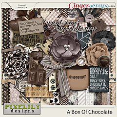 Pixelily Designs - A Box Of Chocolate (misshappy80) Tags: zwart wit grijs bruin chocolade chocolademelk pixelilydesigns