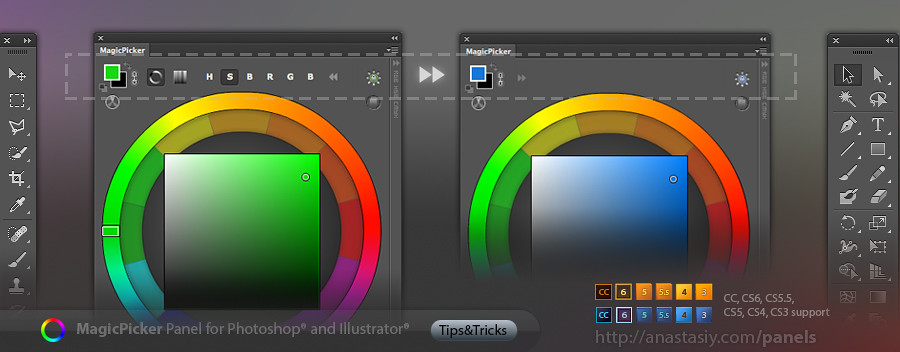 how to get painters wheel on photoshop