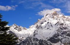 Kinnerkailash ridge (draskd) Tags: ridge mountain kinnerkailashpeak kinnershivling brightsun himalayas himalayanpeak bluesky kalpa recongpeo chini mtkinnerkailash