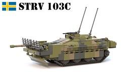 STRV 103C (Matthew McCall) Tags: lego tank armor strv103 stank cold war sweden swedish moc military vehicle