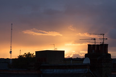 Sunset during a downpour 17 Oct 2016 (Sculptor Lil) Tags: canon700d dslrsingleexposure london clouds sky stormclouds sunset weather
