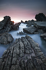 Hartland Quay [explored] (Mark Leader) Tags: hartland devon seascape calm coast rocks sea sunset serene