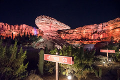 The Road is a Highway (Cakvala-SC) Tags: night shot cars land disney california adventure park disneyland anaheim nikon d600 landscape rocks mountain