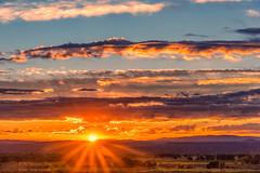 Sunrise (inlightful) Tags: sun sunshine sunbeams sunrays beams rays sunny sunrise sunset morning evening clouds sky nature outdoors rural southwest weather newmexico socorrocounty