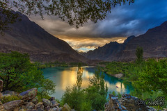Lake At Dusk (SMBukhari) Tags: skardu skarduvalley lake upperkachura gilgitbaltistan dusk sunset smbukhari syedmehdibukhari reflection nature