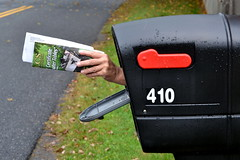 upgraded my mailbox (roger901) Tags: mailbox funny whimsical selfportrait selfie