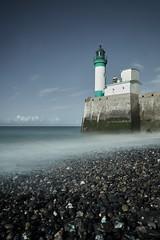 Lighthouse Nostalgia (Ulysse.C) Tags: lighthouse see ocan landscape old beach coast nostalgia long exposure sony a77ii ulysse claude letréport