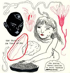 loosened grip (art-creature) Tags: art artist artwork drawing illustration doodles sketchbook moleskine ink pen fineliner brushpen
