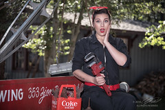 Oh My (Linda O'Donnell) Tags: rosietheriveter models 1940s redbandana glamour redlipstick worldwarii wwii vintagevehicles cocacola coke pinup lindanjo6 lindaodonnell