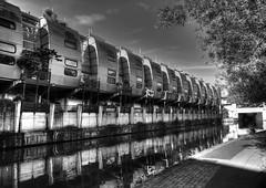 London_20160923_8737 - explored (Joseph Pearson Images) Tags: grandunioncanal london grimshaw nicholasandpartners blackandwhite mono bw building architecture reflection