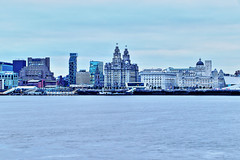 Liver Buildings across the Mersey (stevonb) Tags: liverpool liver mersey building graces three