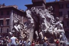 Navona (Piazza) - Fontana dei Fiumi (Fontaines de Rome) Tags: roma rome rom piazzanavona piazza navona fontanadeifiumi fontana fiumi