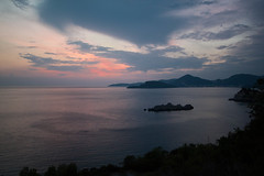 Montenegran coast at sunset (Arjen Van de Walle) Tags: montenegro sunset coast sea adriatic sveti stefan gloom