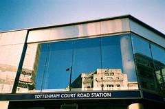 Tottenham Court Road Station (oh it's amanda) Tags: london londonengland uk pentaxespiomini pentaxuc1 fujisensia200 xpro crossprocessed expiredfilm tube thetube underground