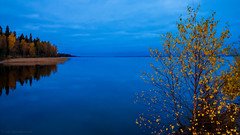 October blues (Joni Mansikka) Tags: autumn nature lake woodland trees outdoor landscape clouds colours calm blues pyhjrvi ylne suomi finland