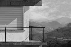 (Jean-Luc Lopoldi) Tags: bw noiretblanc balcon ferm voletsferms montagne brume mist shutter ombre shadow