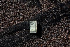 Unfortunate (Chris Huddleston) Tags: 20dollarbill money found texture bill value paper pavement cash
