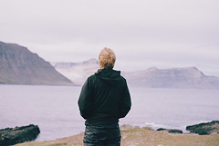 (aclaudine) Tags: 35mm film colors portrait nature naturallight mountain sea water man iceland canon