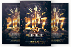 2017 NYE Party | Psd Invitation Template (Rome Creation) Tags: bash champagne champagneparty chic christmas classyparty deluxe elegant glam gold happy holiday holidays invitation luxurious luxury modern new newyear newyearsevenye nyeparty poster psd speaker vip vipparty white xmas