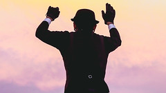 Humberto Kalambres (xavuti) Tags: cielo amanecer maana colores rosa azul naranja amarillo terraza volcn flare sky sunrise morning colour colours pink blue orange yellow roof volcano popocatepetl mexico puebla puebladezaragoza art arte equilibrio equilibrista equilibrist balance cable cableflojo circus clown hat sombrero humbertokalambres