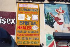 Barber, healer, left-handed guitarist (ADMurr) Tags: la barber shop healer restaurant curandera help leica m4 kodak ektar 50mm