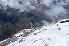 Ascent (Vinchel) Tags: china sichuan siguniang trek outdoor mountain hiking fuji xt2 1655mm f28 landscape snow mountainside travel