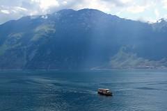 View Lago di Garda from Limone sul Garda. (elsa11) Tags: limonesulgarda lagodigarda lakegarda gardameer gardasee ferry ferryboat see meer lake brescia italy italia itali mountains