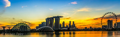 Panorama view of Marina Bay from the east side (FrozenTales) Tags: