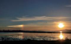 Dueling sunsets (TJ Gehling) Tags: sunset sundog phantomsun mocksun parhelion sun sanfranciscobay goldengate goldengatebridge sanfranciscobaytrail richmondca