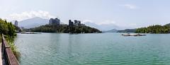 IMG_9947-全景.jpg (Idiot frog) Tags: blue eos sunmoonlake lake sky cloud water nantou 5d2 green canon taiwan 5dmk2 white éæ± é èºç£ç å°ç£ tw