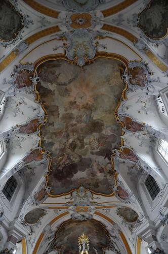 Staffelstein (Alemania). Basilica Vierzehnheiligen. Bóvedas