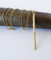 The Comet. 14K Yellow Gold Stick Shape Pendant Set With 5 Diamonds (Noa Sharon Designs) Tags: comet christmas giftidea gold necklace goldpendant handmade metalwork madeinisrael rod shape 14k 14kgold ancientstylenecklace unique diamonds goldanddiamonds       recycled recycledjewelry recycledgold   ynecklace delicatependant