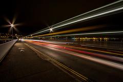 Teignmouth and Shaldon Bridge (Marklucylockett) Tags: marklucylockett november devon shaldon teignmouthandshaldonbridge teignmouth night bridge riverteign teign estuary 2016 bus