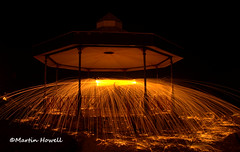 Wire wool spinning (martinhowell40) Tags: tenby wirewoolspinning sparks spinning pembrokeshire longexposure night nikon wales d5200 bandstand