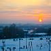 Eisiger Sonnenuntergang