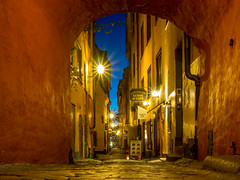 Stockholm Street (Jens Haggren) Tags: olympus em1 street city lights buildings sky oldtown stockholm sweden jenshaggren