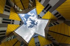 Maisons cubiques Rotterdam (lecointelaetitia) Tags: rotterdam paysbas europe travel voy gomtrie geometric couleurs colors