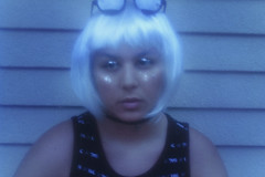Bae (TheJennire) Tags: photography fotografia foto photo canon camera camara colours colores cores light luz young tumblr indie teen choker portrait face self people girl glitter ethereal wig sunglasses shades fashion eyes art blue
