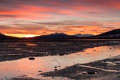 The light of the Arctic night (Bente Nordhagen) Tags: lyngen sistesoldag solnedgang sunlight winter landscape shoreline