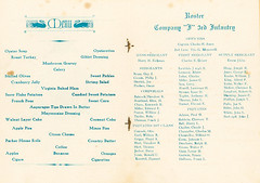 1930-11-27-Thanksgiving Menu-Company I-3 (Old Guard Museum) Tags: 1930 companyi fortsnelling thanksgiving