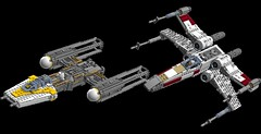 Yavin Pass 1s=f (picardsbricks) Tags: lego starwars anewhope iv rogueone ywing xwing