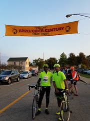Finally done with a very very hilly Apple Cider Century  with Jamal (ktlee0001) Tags: iphonephoto